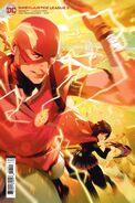 RWBY Justice League 3 variant cover Ruby and Barry