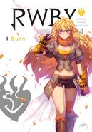 RWBY Official Manga (Vol. 4 I Burn, US) Front cover