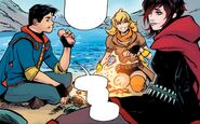 RWBY Justice League 1 (Chapter 1) Ruby and Yang hanging out with Clark