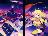 Team RWBY (RWBY Official Japanese Fanbook, Illustration,Yokarura)