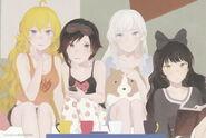 Team RWBY (RWBY Official Japanese Fanbook, Illustration,Kei Toume)