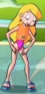 Sabrina's Magenta Swimsuit