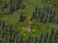 Скала воронов, статуя волшебницы 4