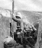 British trench periscope Cape Helles 1915
