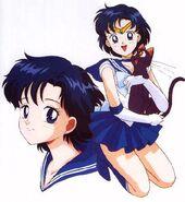 Sailor Moon Sailor Mercury Ami Mizuno wig ver 02-2-03