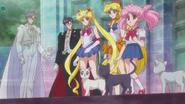 Luna, Artemis, Diana, Król Endymion, Chibiusa, Tuxedo Kamen, Sailor Moon i Sailor Venus SMC - act20