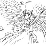 Princess Serenity with the Sword of Healing and Wings Sketch.jpg