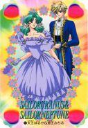 Haruka Tuxedo and Michiru Dress Card