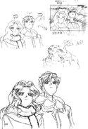 Haruka and Michiru Sketch