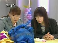 Rei, Makoto i Luna w ludzkiej formie w sekretnej bazie PGSM - act28