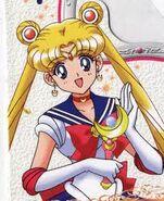 Sailor Moon con el cetro lunar