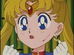 Sailor Moon with a cut on her face
