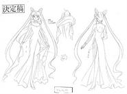 Black Lady Anime Design 2
