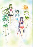 Sailor jupiter, mars, neptune, mercury y pluto (artbook 5)