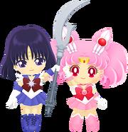 Sailor Chibi Moon & Sailor Saturn
