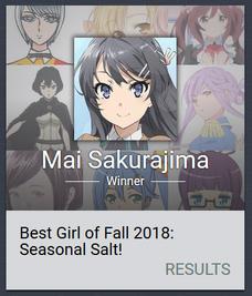 Best girl of 2018 winter