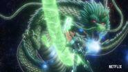 KotZ Netflix Dragon Shiryu doing the move.