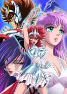 Primera ilustración del anime de Saintia Sho