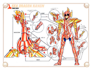 Schéma de la Scale du Dragon des Mers