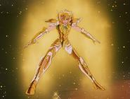 Hyôga portant l'Armure du Verseau pour la première fois