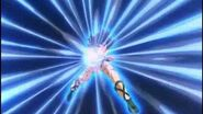 Seiya uses Pegasus Meteor
