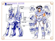 Schéma de la 2nd Armure de Pégase