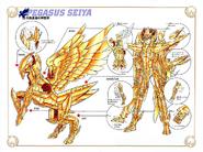 Schéma de l'Armure Divine de Pégase