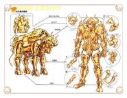 Schéma de l'Armure du Taureau