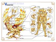 Schéma de l'Armure Divine du Cygne