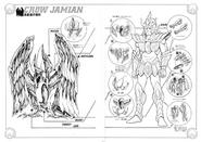 Schéma de l'Armure du Corbeau
