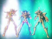 Hyoga, Seiya y Shiryu Oro 7.JPG