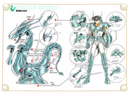 Schéma de la 4ème Armure du Dragon
