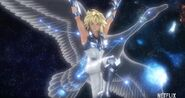 KotZ Netflix Hyoga with his Guardian Constellation, Cygnus