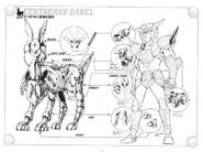 Schéma de l'Armure du Centaure
