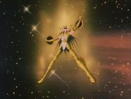 Shiryû portant l'Armure de la Balance pour la première fois