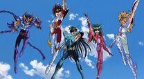 Los cinco protagonistas de Saint Seiya.jpeg