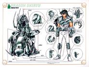 Schéma de la 2nd Armure du Dragon