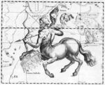 Représentation de la Constellation du Sagittaire par Johannes Hevelius.jpg