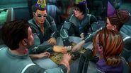 Gat y sus amigos jugando a la Ouija