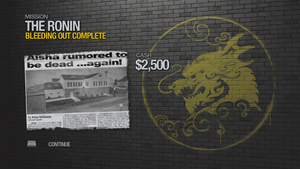 """""""Bleeding Out"""" mission completion screen"""