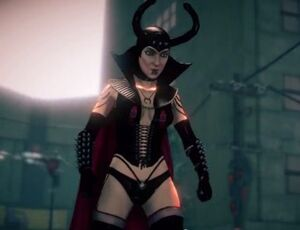 The Dominatrix in the second mission of Saints Row IV: Enter the Dominatrix.