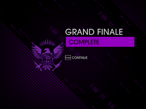 """""""Grand Finale"""" mission completion screen"""