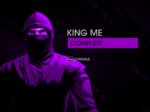 """""""King Me"""" mission completion screen"""