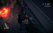 Civilian Homie passed out in Saints Row IV