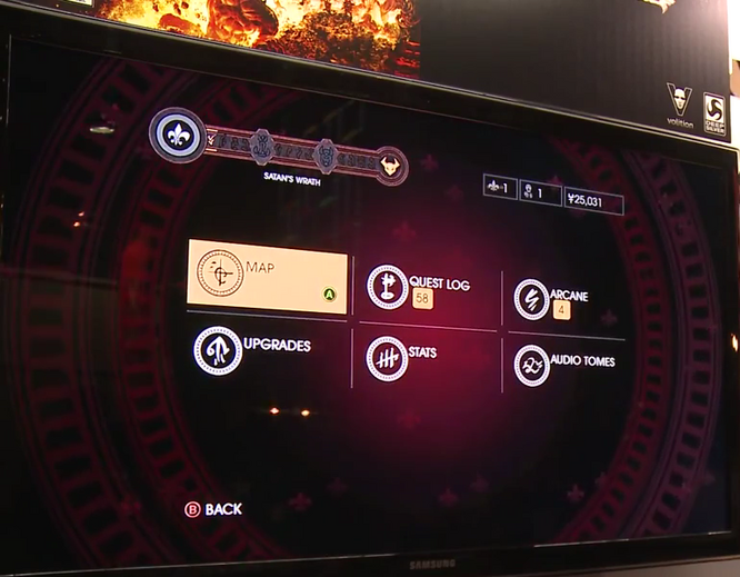 Gat out of Hell Gameplay Demo 0248 Menu with only 6 options.png