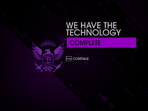 """""""We have the Technology"""" mission completion screen"""