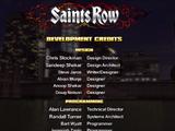 Saints Row credits