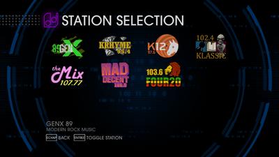 Station Selection Menu