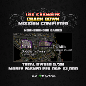 """""""Crack Down"""" mission completion screen"""