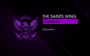 """""""The Saints Wing"""" mission completion screen"""